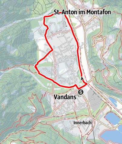 Karte / Vandans - Dorfrunde