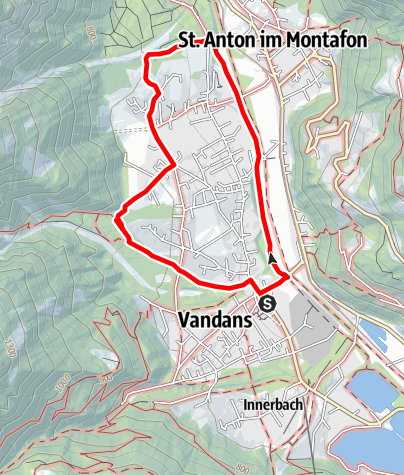 Map / Vandans - Dorfrunde