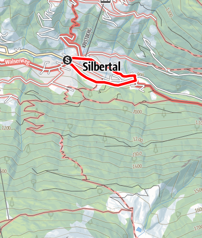 Karte / Silbertal - Dorfrunde