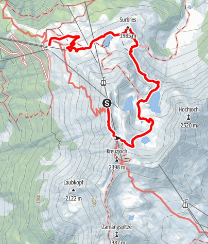 Karte / Seetalwanderung Hochjoch