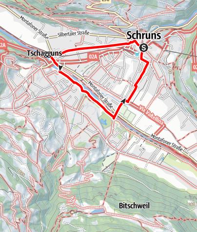 Karte / Barrierefrei - Dorfrunde Schruns-Tschagguns