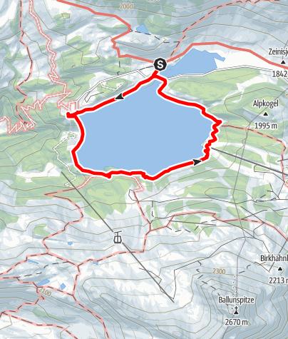 Kaart / Kops Seerundgang