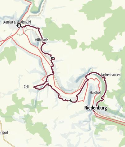 Map / Jurasteig-Etappe 12: Dietfurt - Riedenburg