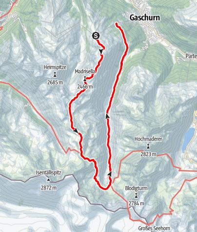 Map / Tübinger Hütte - Silvretta