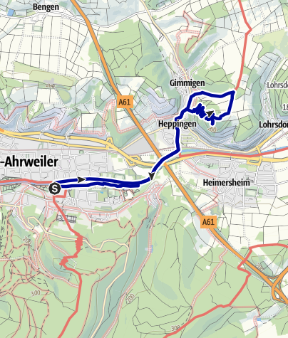 Karte / Medizinischer Kurwanderweg MK II - rot