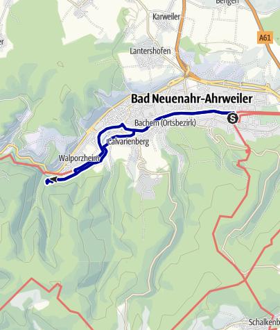 Karte / Medizinischer Kurwanderweg MK IV - rot