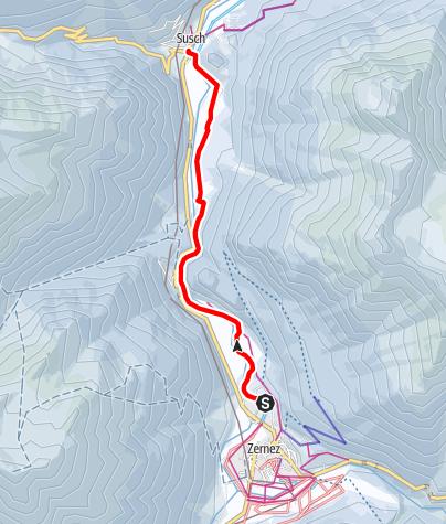 Map / Zernez - Giarsun