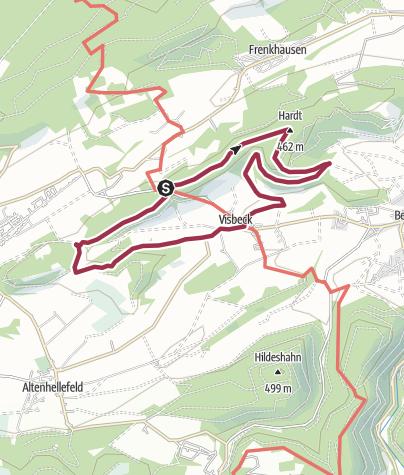 Karte / Niederwälder bei Visbeck - Naturerlebnisweg westlich von Meschede