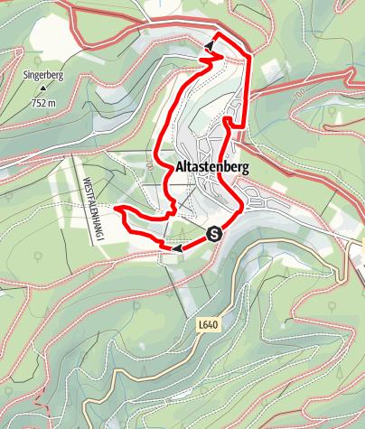 Karte / Bergwiesen bei Altastenberg - Naturerlebnisweg westlich von Winterberg