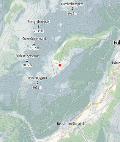 Mapa / Kletterpark Kreuzjoch