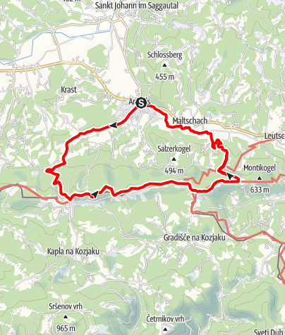 Karte / Arnfelser Wege - Remschnigg (R2)