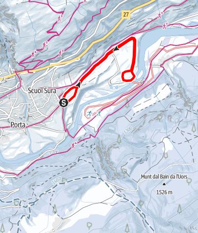 Karte / Nachtloipe Scuol