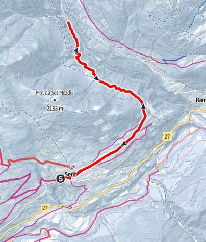 Karte / Sent - Val Sinestra (retour)