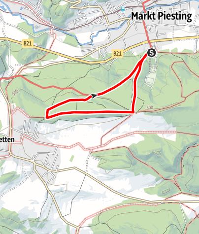 Mapa / Tut Gut-Wanderweg Markt Piesting-Dreistetten Route 2