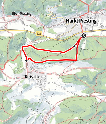Térkép / Tut Gut-Wanderweg Markt Piesting-Dreistetten Route 3