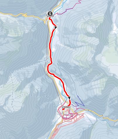 Karte / Susch - La Fuorcha - Zernez