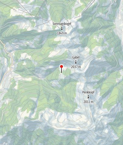 Karte / Karseggalm, 1.603 m