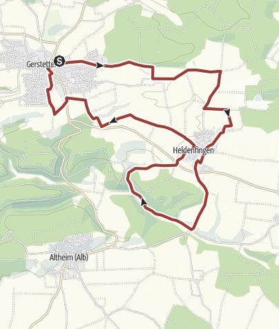 Karte / UMoSSA - Urwelt Mosaik Skulpturenpfad Schwäbische Alb