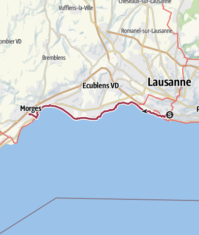 Map / Schleifenroute CH / Lausanne - Morges / Wanderung 4