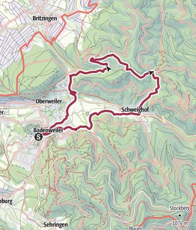 Karte / Sagenhafte Wanderung von Badenweiler zur Ruine Neuenfels