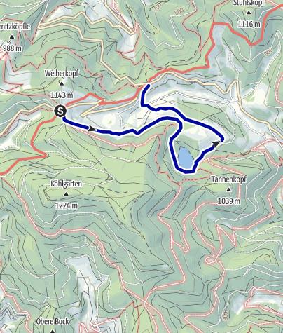 Karte / Vom Kreuzweg zum Nonnenmattweiher