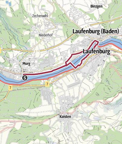Karte / Murg: Grenzüberschreitender Rheinrundweg