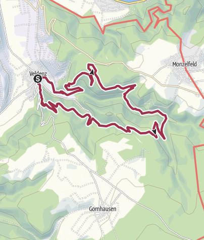 Carte / Moselsteig Seitensprung Graf Georg Johannes Weg