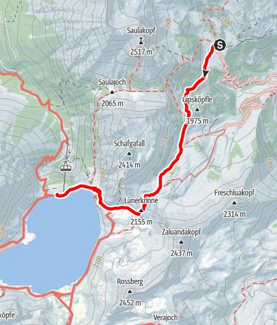Map / Heinrich Hueter Hütte till Douglass Hütte