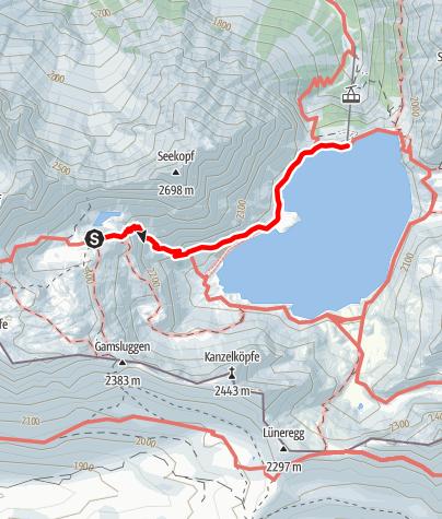 Kaart / Montafoner Hüttenrunde - Totalphütte zur Douglass-Hütte
