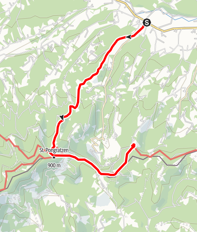 Karte / Oberhaager Wege - St. Pongratzenweg