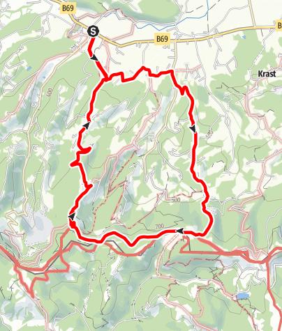 Karte / Oberhaager Wege - Aussichtstour an der Grenze