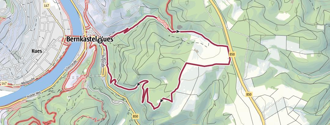 Kaart / Moselsteig Seitensprung Bernkasteler Bärensteig