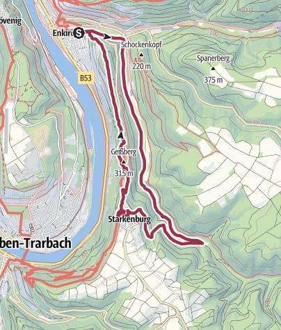Karte / Moselsteig Seitensprung Leiermannspfad