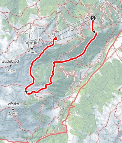 Map / Von alten Maisässen auf wenig begangenen Wegen zur Hochalpe Latschätz