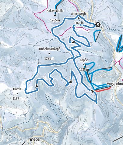 Karte / Notschreiloipe - Schauinslandspur 6,2 - 17,1 km