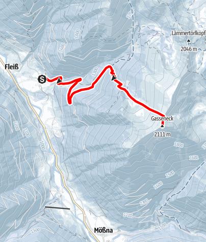 Karte / Gasseneck 2.111 m