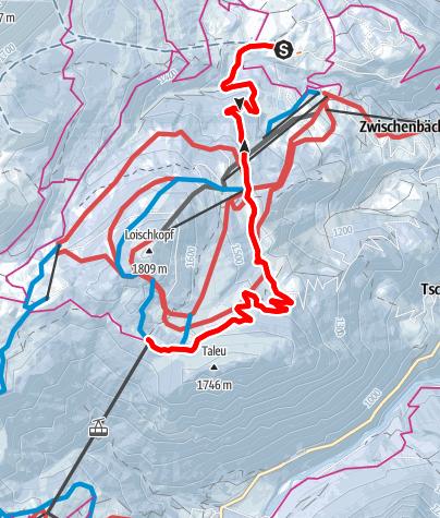Karte / Burtschaweg | Bürserberg
