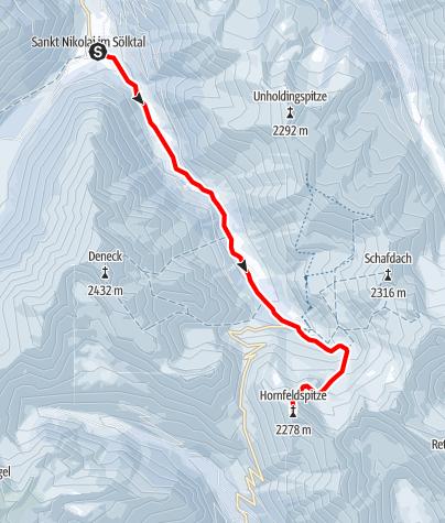 Karte / Hornfeldspitze 2.277 m