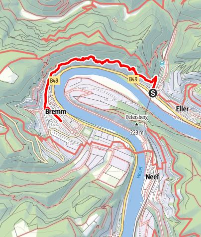 Karte / Der Calmont-Klettersteig (Bremm, Ediger-Eller, Neef)