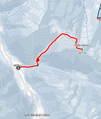 Karte / Großes Bäreneck 2.037 m