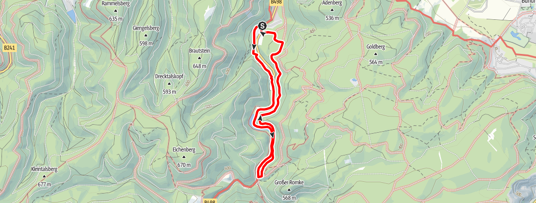 Karte / Rundwanderweg 1 im Okertal
