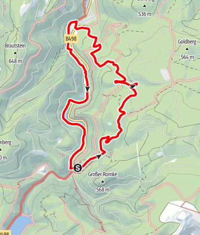 Karte / Rundwanderweg 2 im Okertal