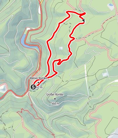 Karte / Rundwanderweg 3 im Okertal