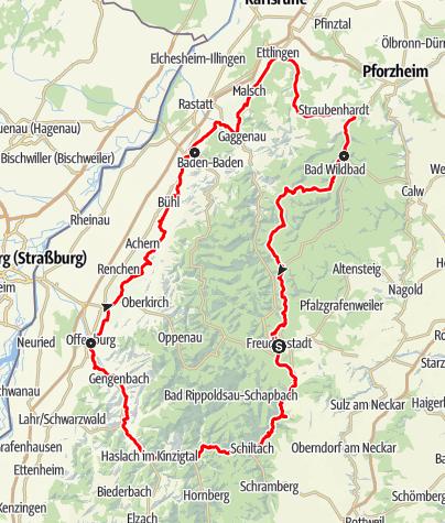 Karte / Naturpark-Radweg