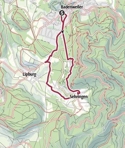 Karte /  ''Sehringer Rundweg'' violette Route