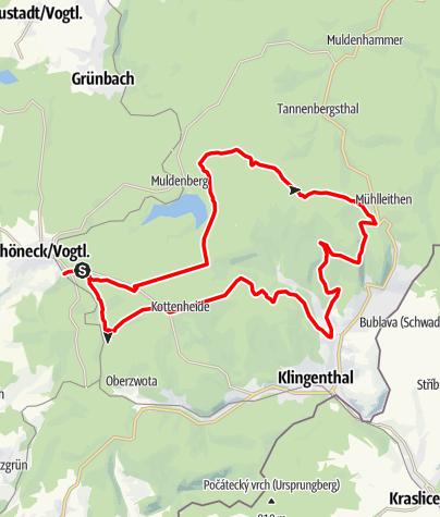 Karte / MTB-Route 8 - Kammtour