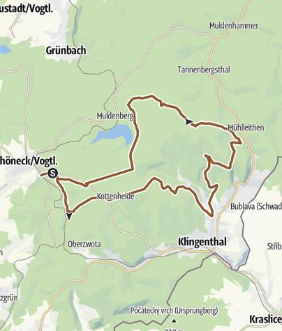 Map / MTB-Route 8 - Kammtour