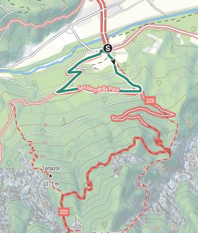 Kaart / Wandeling Dennenbos Doss Tondo