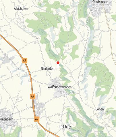 Karte / Blick in das Memminger Trockental mit Niederdorf