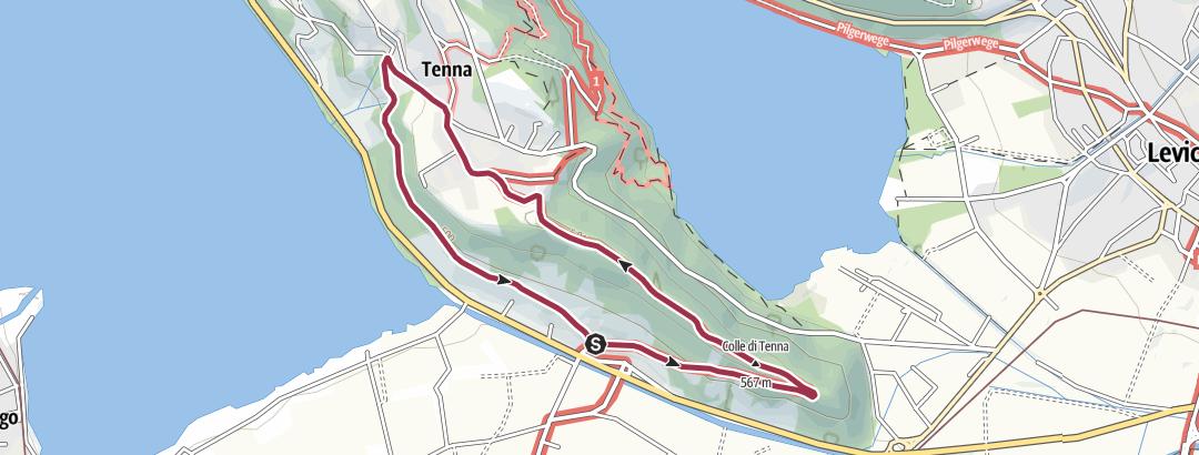 Kaart / Trekking van San Valentino en het Fort van Tenna